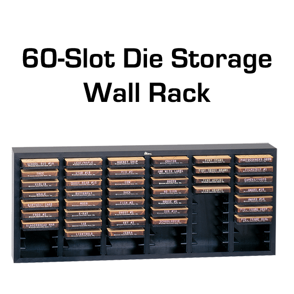 Ellison 60-Slot Die Storage Wall Rack